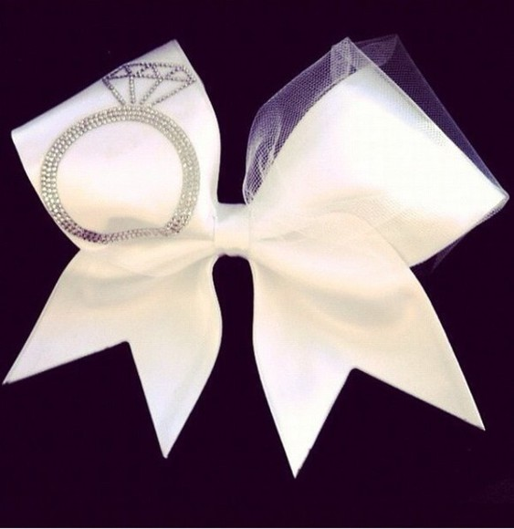 wedding clothes hair accessories cheer bow