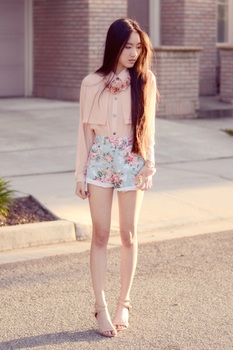 art in our blood jewels blouse shorts shoes