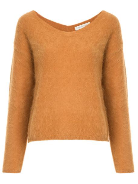 Estnation jumper women yellow orange sweater