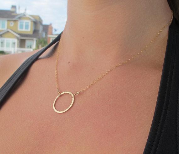 Gold karma necklace  eternity necklace dainty gold by lunaCielo