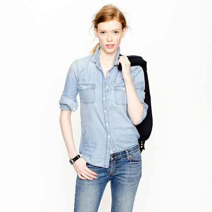 chambray shirt - casual shirts - Women's shirts & tops - J.Crew
