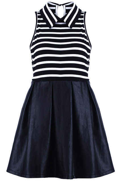 ROMWE | Sleeveless Striped Dress, The Latest Street Fashion