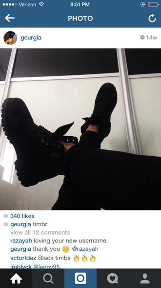 shoes boots cute black shoes