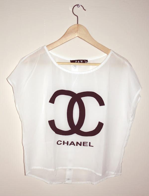 t-shirt chanel blouse shirt