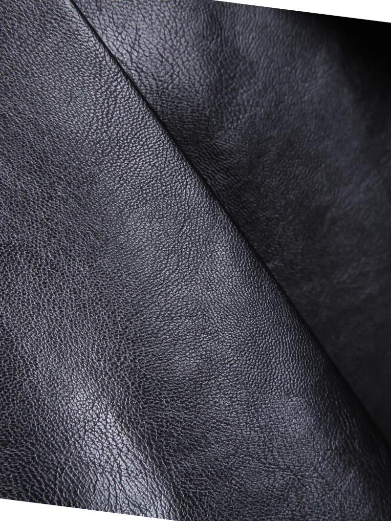 Falda polipiel cintura alta-negro