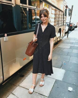 shoes sandals flat sandals white sandals black dress dress bag brown bag