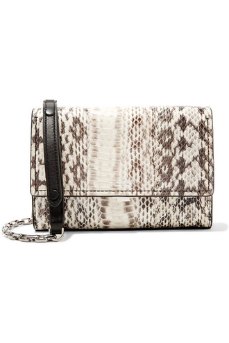 bag shoulder bag snake white print snake print off-white