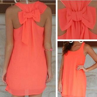 dress coral dress summer dress