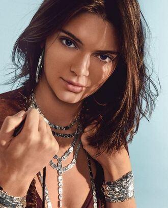 jewels silver boho jewelry jewelry necklace bracelets accessories kendall jenner kardashians instagram model editorial