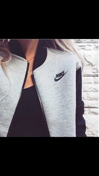 sweater nike jacket hoodie nike women grey nike jacket nike sportswear grey sweater