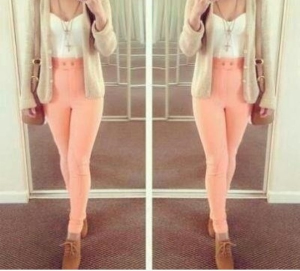 jeans pink tumblr knitted cardigan top sweater