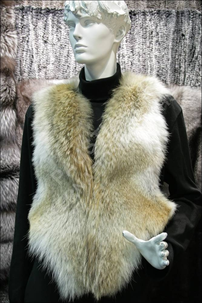 637 Coyote Fur Vest Fur Jacket | eBay