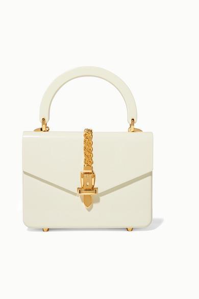 Gucci - Sylvie 1969 Mini Chain-embellished Plexiglas Tote - Ivory - Sylvie 1969 Mini Chain-embellished Plexiglas Tote