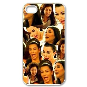 Amazon.com: AZA Hard Case for iPhone 4, iPhone 4S, Kim Kardashian Cying Protective iPhone Cover-Black/White-Retail Packaging: Cell Phones & Accessories
