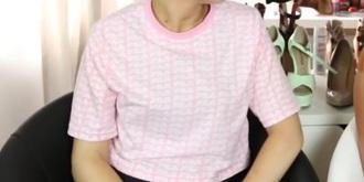 shirt pink fila pastel pink