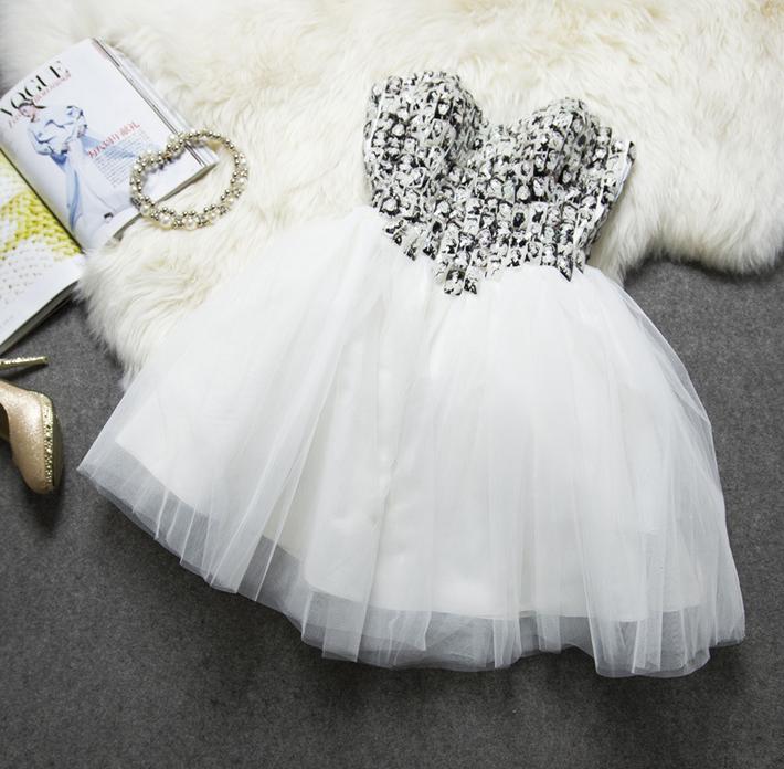 Hot shining rhinestones with cute image bitter princess dress homecoming dress
