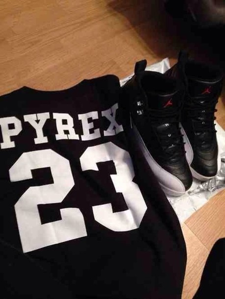 shirt pyrex 23 top shirt black help please shoes