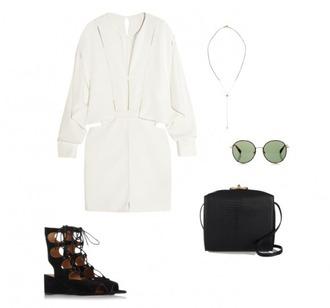 helena bordon blogger white dress strappy shoes