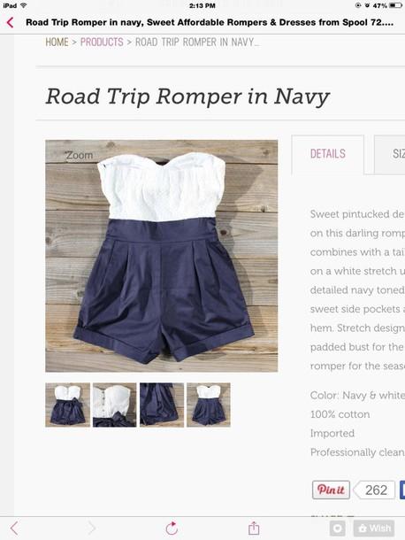 romper navy