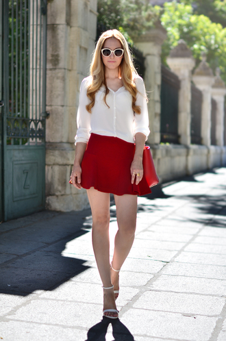 oh my vogue blouse skirt shoes bag sunglasses jewels