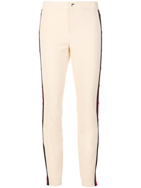 gucci women spandex nude cotton pants