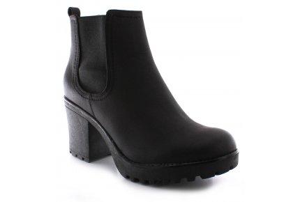 Pandora Ladies/Womens Biker-Style Platform Sole Chelsea Boots | Black | Wynsors