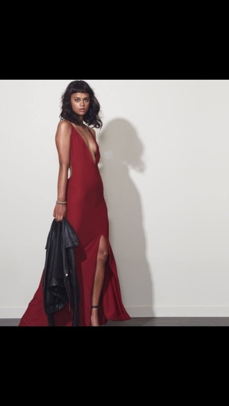 dress red backless prom dress deep v deep v dress red deep v dress backless dress long prom dress deep v neck dress sexy deep v dress red prom dress