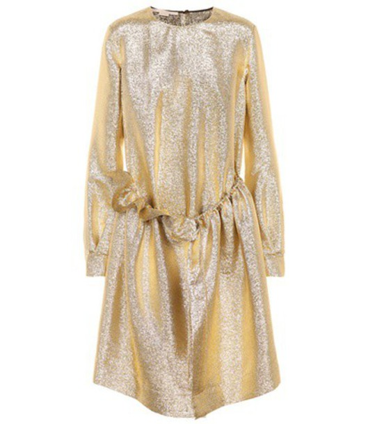 Stella McCartney dress metallic dress metallic gold