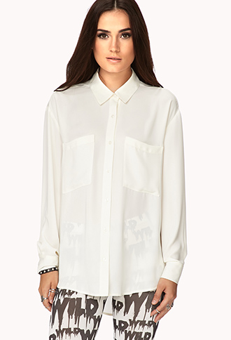 Classic Flowy Button Down | FOREVER21 - 2000075427