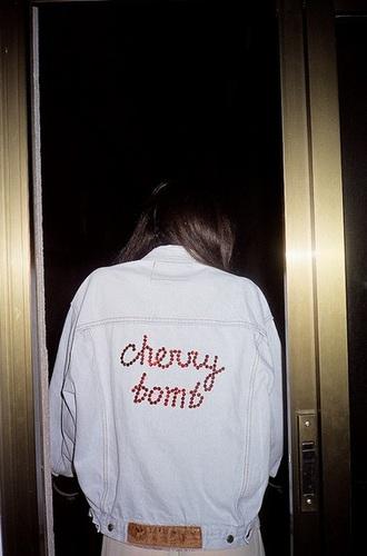 jacket cherry bomb denim jacket