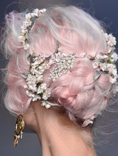 jewels,cute,flowers,flower headband,dolce and gabbana,head jewels,floral jewels,diamonds,hair accessory,hair band