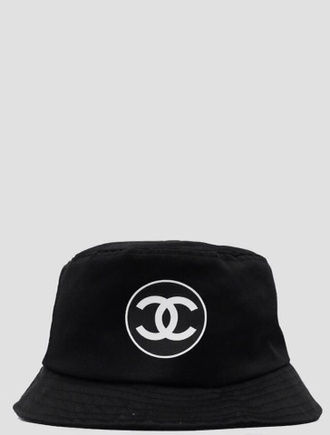 black hat white hat bucket chanel chanel hat chanel bucket hat bucket hat style