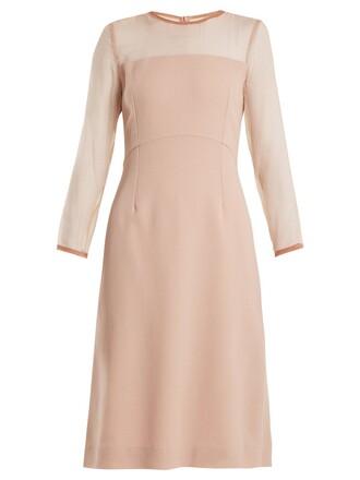 dress pencil dress silk pink