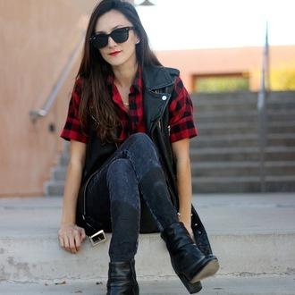 frankie hearts fashion blogger jacket shirt shoes