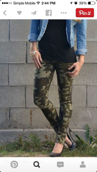 camouflage Red Lime Sunday jeans