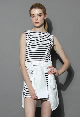 dress keep it casual shift dress in stripes chicwish chicwish.com shift dress striped dress summer dress casual dress