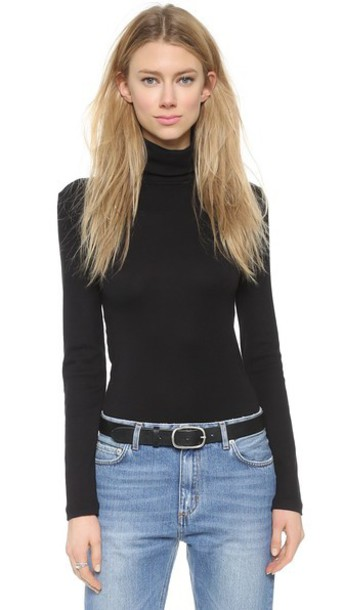 Splendid 1X1 Turtleneck - Black