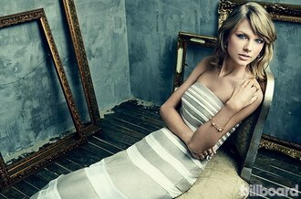 dress strapless taylor swift striped dress