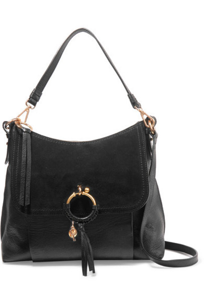 See by Chloe bag shoulder bag leather suede black
