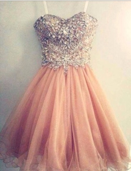dress prom dress pink dress crystals sparkle dress