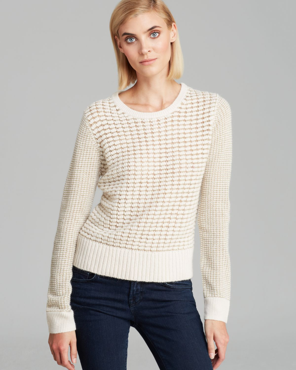 FRENCH CONNECTION Sweater - Gridlock Sparkle | Bloomingdale's
