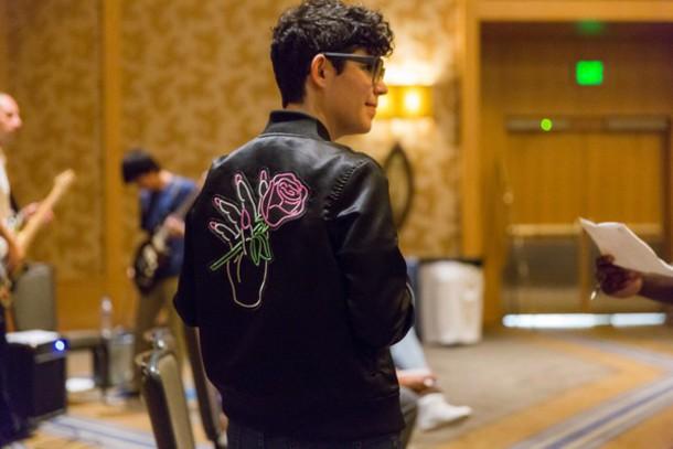 coat black rebecca sugar rose  embroidered jacket black leather jacket rose printed