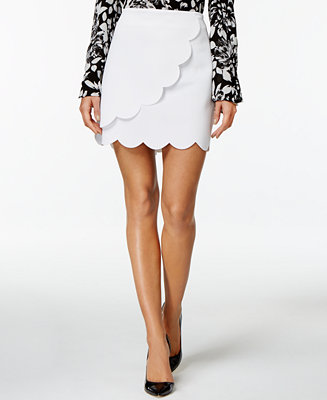 Grace Elements Scalloped Faux-Wrap Mini Skirt - Women - Macy's
