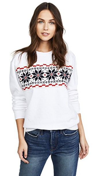 Michaela Buerger sweatshirt classic white red sweater