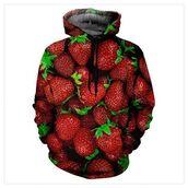 jacket,red,dark,hoodie,strawberry,Fruity-Girl,fruits