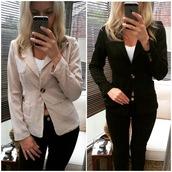 jacket,ikandi boutique,blazer,black blazer,white blazer,suit jacket,work jacket,formal jacket,formal,party,party top,party jacket,trendy,cute,plunge jacket,plunge neckline,v neck