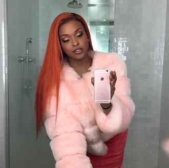 coat pink pink coat fur coat pink fur coat fur fluffy fluff tumblr cyber ghetto fashion cute girly girl pretty aesthetic
