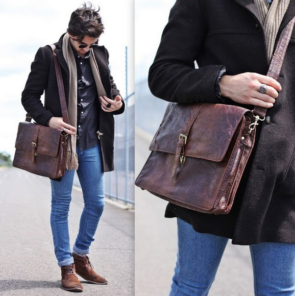 leather bag shoes boots boots brown menswear