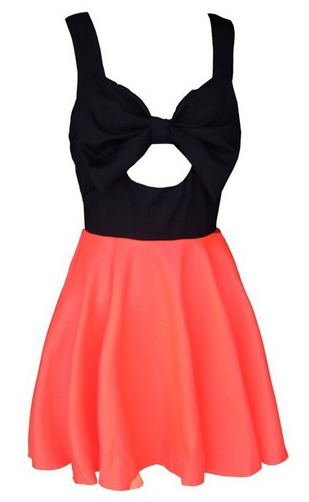 Hollow Chest Bow Dress