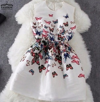 dress butterfly butterfly dress white dress formal dress fashion